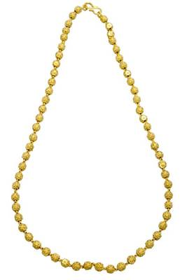 SINGLE LINE GOLD BALLS MALA -