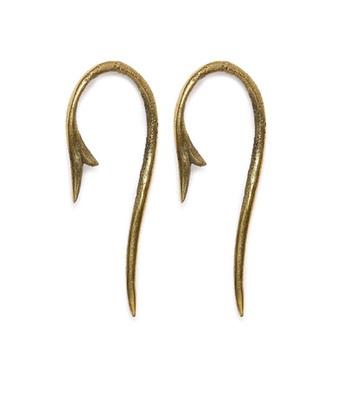 Gold Tribal trivia Long Earrings