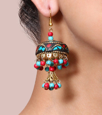 Ted & Turquoise Lac Double Jhumki