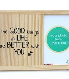 Buy Wooden table and wall photoframe - Good things photo-frame online