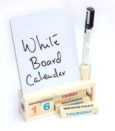 Buy Wooden calendar with a white board stationery online