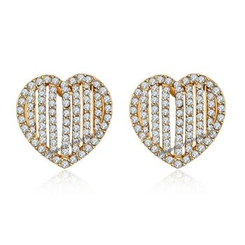 Copper cubic zirconia earrings