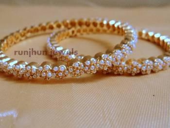 royal white pearl bangles