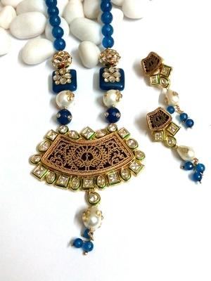 thewa work with kundan and beads
