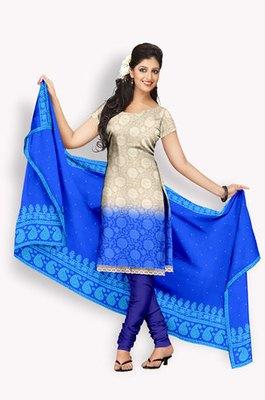 Pure Chiffon  Salwaar Kameez With Resham Embroidery & Zari Embroidery (Fabric Only) - E0301011
