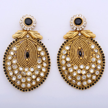 Lovely Oval Polki Danglers