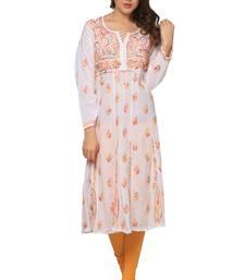 Multicolor embroidered Pure Cotton  stitched kurti