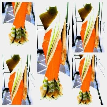 Orange Semi Georgette Saree