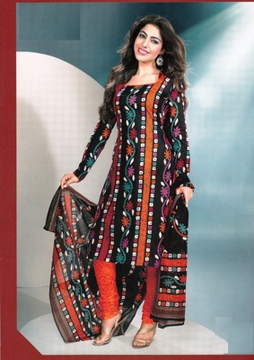 Beautiful Multi Color  Printed Cotton Dress Material D.No DP2346