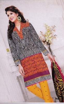 Radiant Multi Color Printed Cotton  Dress Material D.No LS4584