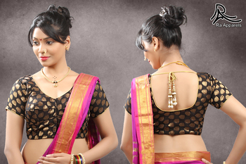 Chanderi Silk Stitched Saree blouse with lining Maharashtrian style blouse