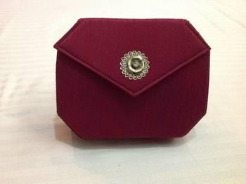 Magenta pink box clutch