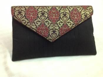 Black maroon envelope