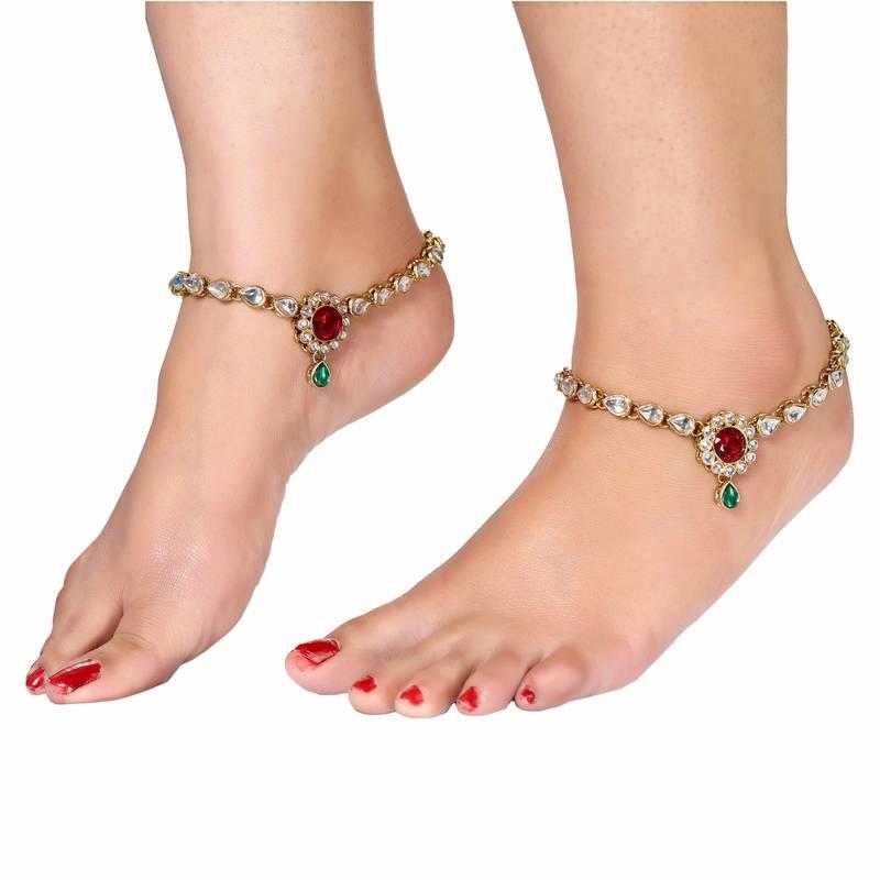 Buy Multicolor Crystal Anklets Online