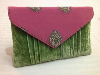 Pink green envelope