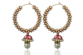 Siyora pearl hoop earrings
