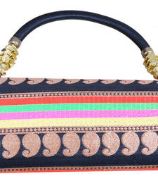 Buy Fashionable Multi Colored Broacde Clutch handbag online