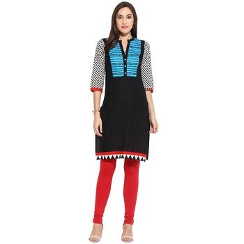 Blue thread_work Cotton stitched kurti