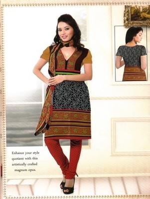 Fabulous Multi Color Printed Crepe Unstitched Dress Material D.No BB213