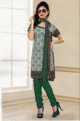 Trendy Multi Color Printed Crepe Unstitched Dress Material D.No LA4504
