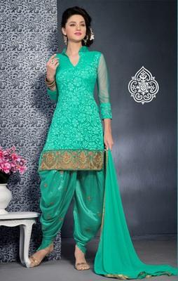 sea green Fancy Salwar Kameez in designer style