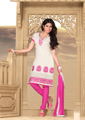 off white Printed Suits with matching duppata