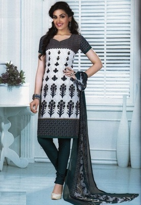 Trendy Multi Color Printed Crepe Unstitched Dress Material D.No MA209