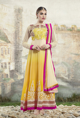BROWN Designer Indian Salwar Kameez in designer style
