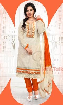 CREAM Ethnic Suits in designer style