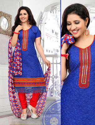 BLUE Fancy Salwar Kameez in designer style