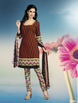 RUST Fancy Ladies Suits with matching duppata