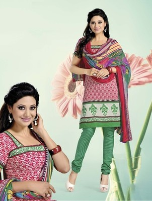 CHERRY Churidar Suits with matching duppata