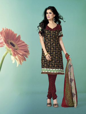 BLACK Indian Ladies Suits with matching duppata
