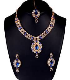 Buy Blue diamond necklace-sets necklace-set online