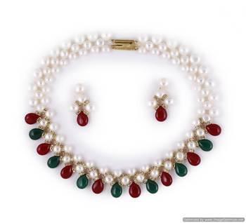 Beautiful multicolor pearl necklace sets
