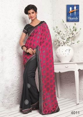half & half designer saree 4011.