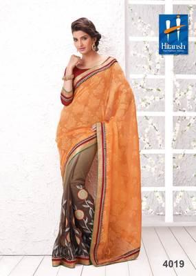 half & half designer saree 4019.