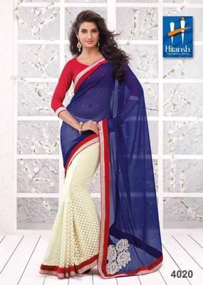 half & half designer saree 4020.