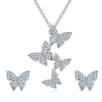 White crystal pendants