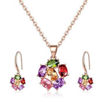 Multicolor crystal pendants