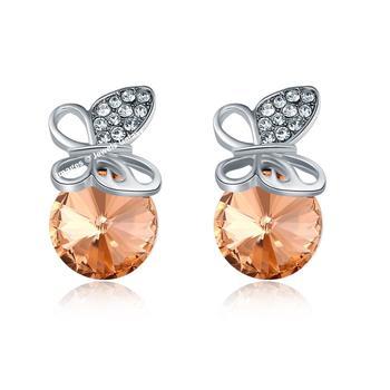 Beige cubic zirconia earrings