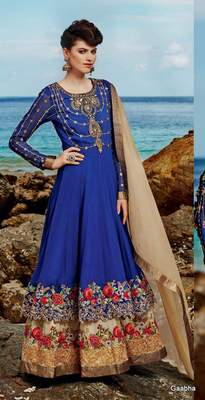 Blue Georgette Dress materail