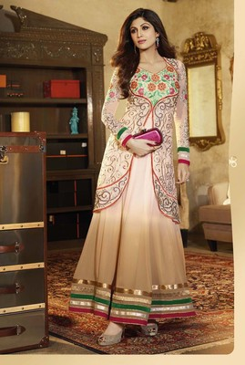 White Georgette Dress Material