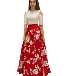 Buy red silk embroidered lehenga lehenga-choli online