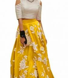 Buy yellow silk embroidered lehenga lehenga-choli online