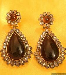Victorian Look Polki Semi Precious Earrings