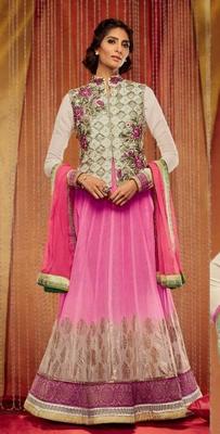 Pink Goergette Dress Material
