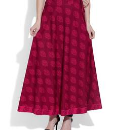 Buy Raspberry Cotton printed skirts cotton-skirt online