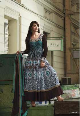 Green GeorgetteSemi Stitch Dress