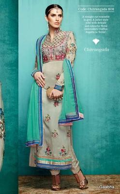 Grey Pure Tusser Silk Semi Stitch Dress